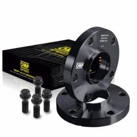 Coppia Distanziali OMP 15mm 5x100 57.1 M14x1.5 CONIC+14x1.5 BALL