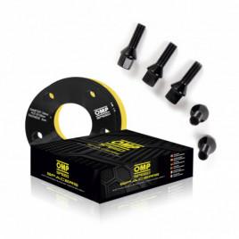 Coppia Distanziali OMP 5mm 5x100 57.1 M14x1.5 CONIC+14x1.5 BALL