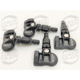 4 sensori valvole TPMS monitoraggio pressione